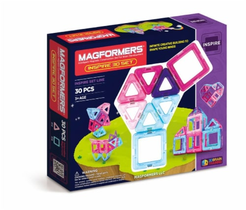 MAGFORMERS® Inspire Building Set 30 Piece Perspective: front