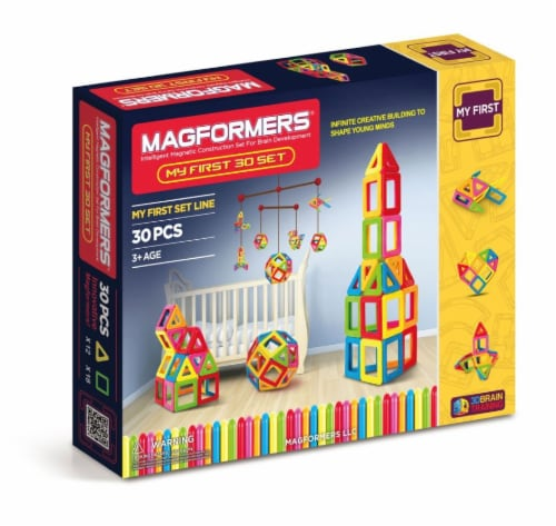 MAGFORMERS® My First Building Set 30 Piece Perspective: front