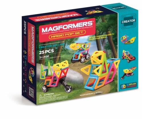 MAGFORMERS® Magic Pop Building Set 25 Piece Perspective: front