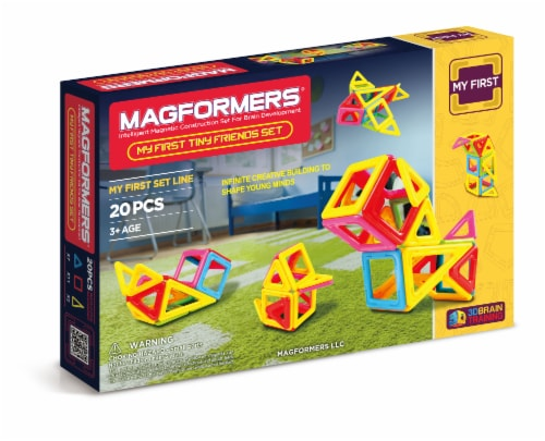 MAGFORMERS® Tiny Friends Building Set 20 Piece Perspective: front
