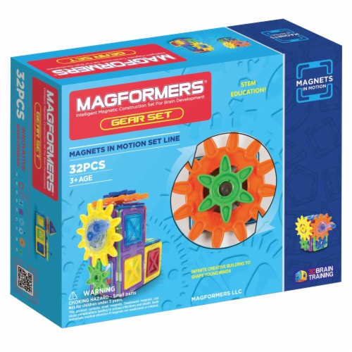MAGFORMERS® Magnets in Motion Gear Set Perspective: front