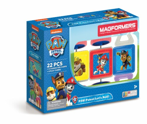 MAGFORMERS® Paw Patrol Let's Roll Building Set 22 Piece Perspective: front