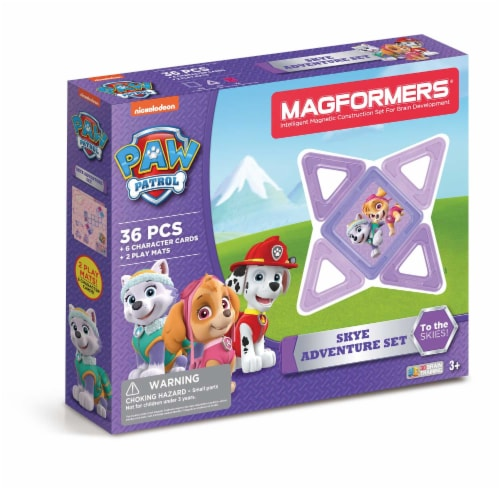 MAGFORMERS® Paw Patrol Skye Adventure Building Set 36 Piece Perspective: front