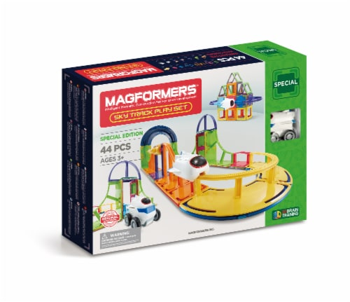 MAGFORMERS® Sky Track Play Building Set 44 Piece Perspective: front