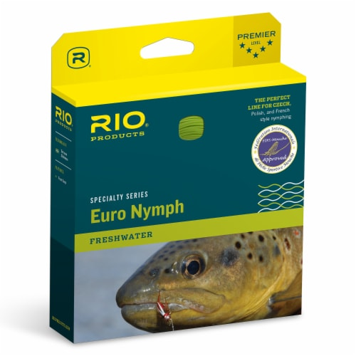 RIO Fly Fishing Freshwater FIPS Ultra Thin High Visibility Euro Nymph Line Perspective: front
