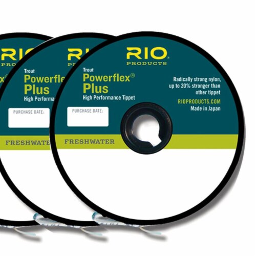 Rio Products 6-22198 Powerflex Plus Fly Fishing Tippet, 4X-6X, Clear (3 Pack) Perspective: front