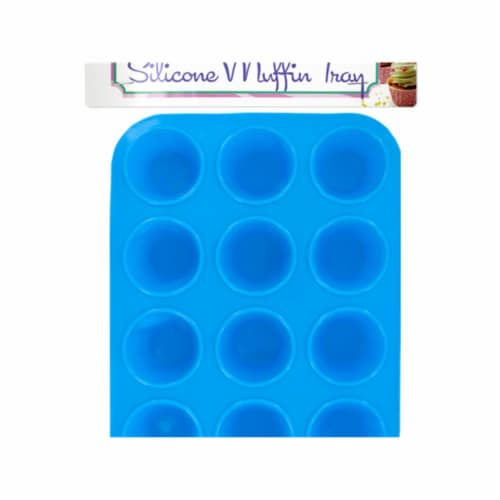Bulk Buys Silicone Mini Muffin Tray - 4 Piece Perspective: front