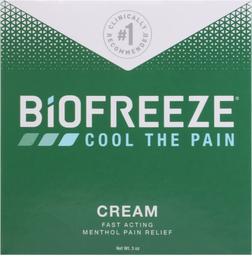 Biofreeze Pain Relieving Cream Perspective: front