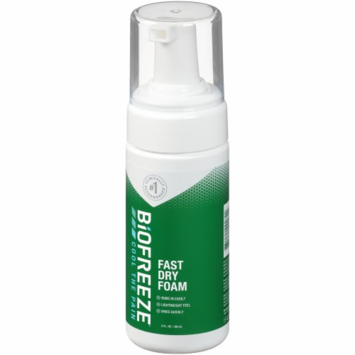 Biofreeze Fast Dry Foam Perspective: front
