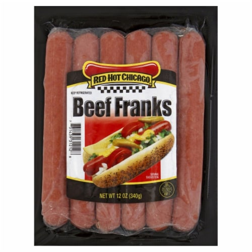 Red Hot Chicago Beef Franks Perspective: front