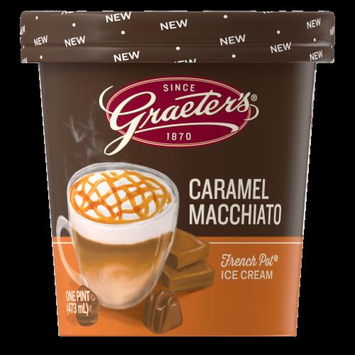 Graeter's Caramel Macchiato French Pot Ice Cream Perspective: front