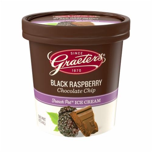 Graeter's Black Raspberry Chocolate Chip Ice Cream Perspective: front