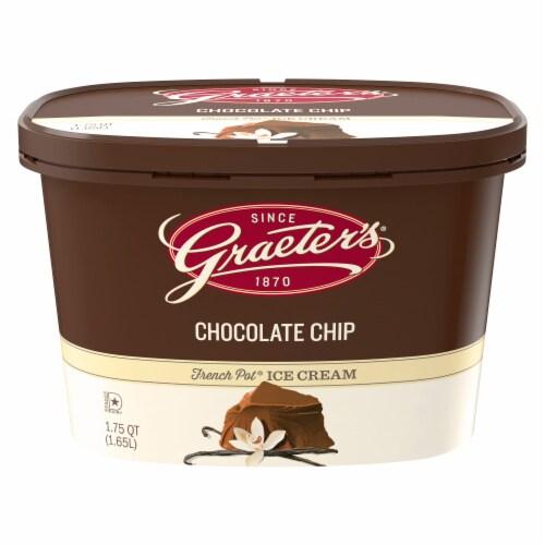 Graeter's Vanilla Chocolate Chip Ice Cream Perspective: front