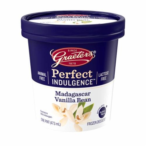 Graeter's Perfect Indulgence Madagascar Vanilla Bean Animal Free Dairy Frozen Dessert Perspective: front