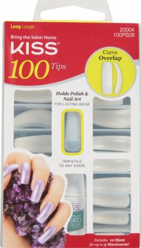 Kiss Long Length 100 Tips Nail Kit Perspective: front
