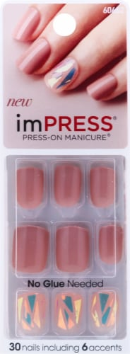 Kiss Broadway imPress Shimmer Press-On Manicure 24 Count Perspective: front