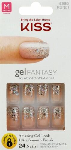 Kiss Gel Fantasy Adhesive Nail Kit Perspective: front