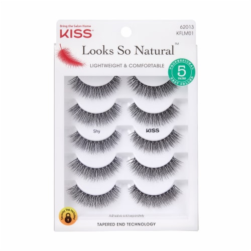 Kiss Looks So Natural False Eyelashes Perspective: front