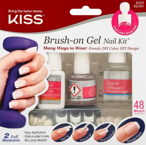 Kiss Brush-on Gel Nail Kit Perspective: front