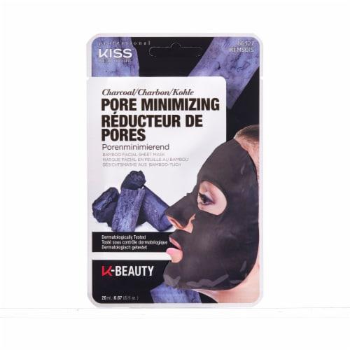 Kiss Pore Minimizing Charcoal Bamboo Facial Sheet Mask Perspective: front