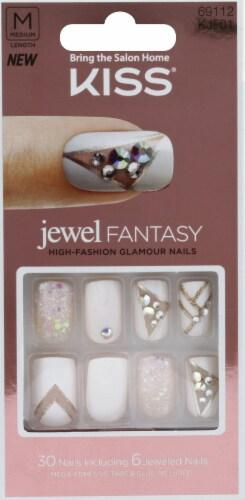 Kiss Jewel Fantasy Empress Nails Perspective: front