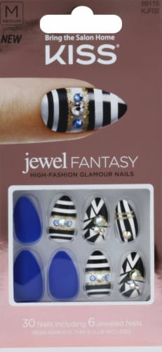 Kiss Jewel Fantasy Your Grace Nails Perspective: front