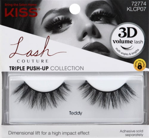 Kiss Lash Couture Triple Push Up Teddy False Eyelashes Perspective: front