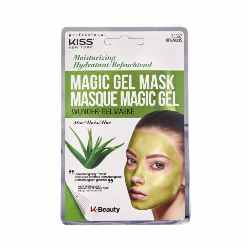 Kiss Moisturizing Aloe Magic Gel Mask Perspective: front
