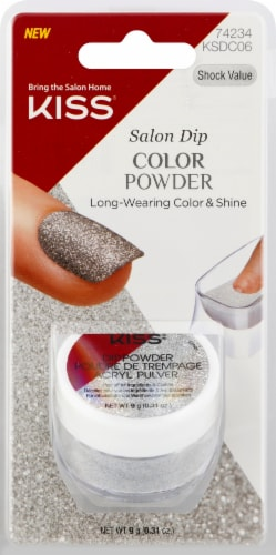 Kiss Shock Value Salon Dip Color Nail Powder Perspective: front