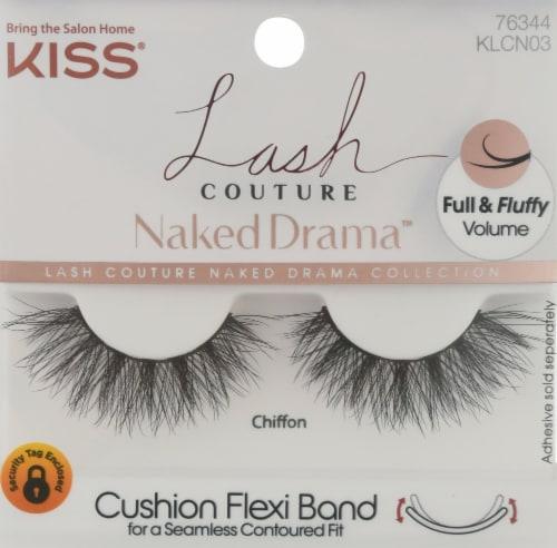 Kiss Lash Couture Naked Drama Chiffon False Lashes Perspective: front