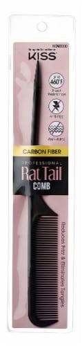 Kiss Carbon Fiber Rat Tail Comb Perspective: front