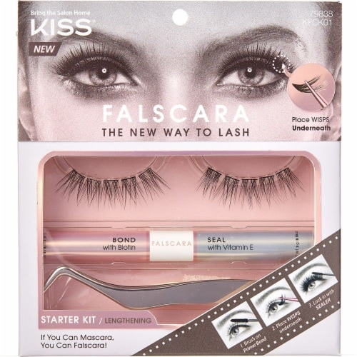 Kiss Falscara Eyelash 01 Starter Kit Perspective: front