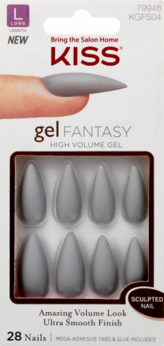 Kiss Gel Fantasy Long Length High Volume Gel Nails Perspective: front