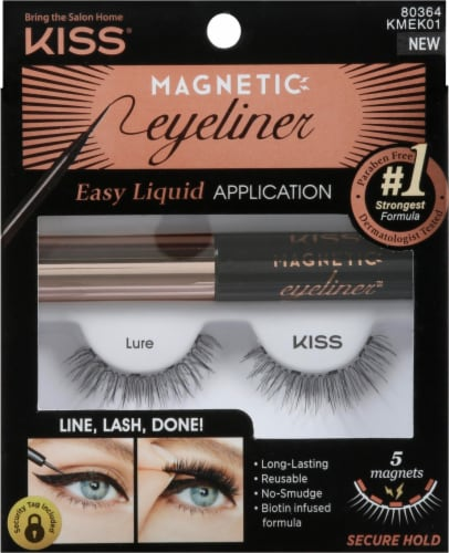 Kiss Magnetic Eyeliner and False Eyelashes Kit Perspective: front
