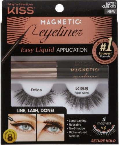 Kiss Entice 03 Magnetic Eyeliner & Eyelash Kit Perspective: front