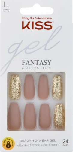 Kiss Fantasy Collection Long Length Gel Nail Kit Perspective: front