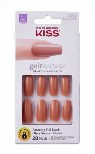 Kiss Gel Fantasy Here With Me Long Length Nails Perspective: front