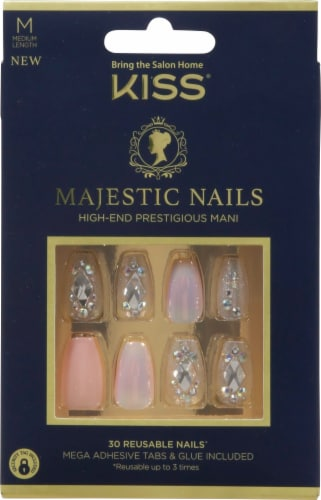 Kiss In a Crown Majestic Nails False Nail Kit Perspective: front