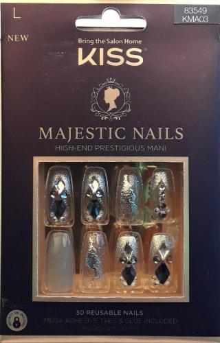 Kiss Sparkle Majestic Nails False Nail Kit Perspective: front