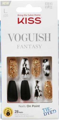 Kiss Voguish Fantasy New York False Nail Kit Perspective: front