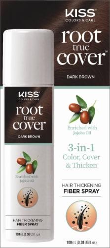 Kiss Root True Color Dark Brown Fiber Spray Perspective: front