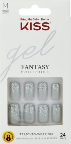 Kiss Fantasy Collection 84119 Manhattan Tango Medium Ready-to-Wear Gel Nails Perspective: front