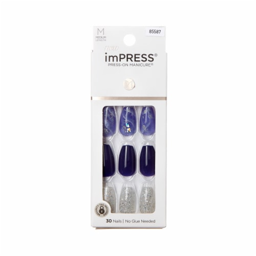 Kiss imPRESS 85587 Polished Press-On Manicure Nails Perspective: front