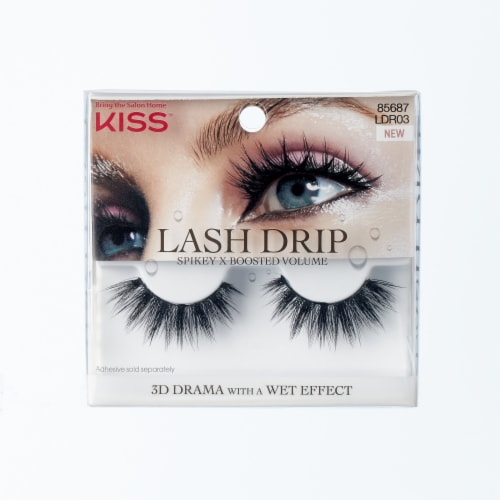 Kiss Lash Drip Spikey X Boosted Volume Lash Strip Perspective: front