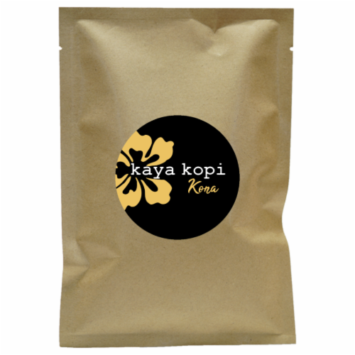 Premium Kaya Kopi Kona From Kona Leste Islands Hybrid Robusta Arabica Coffee (10 Grams) Perspective: front