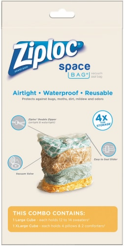 Ziploc® Space Bag® Vacuum Seal Cube Perspective: front