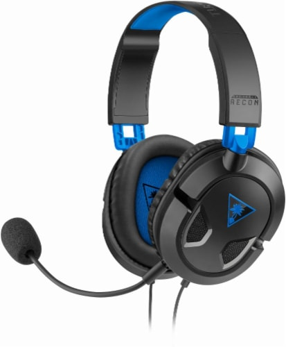 Turtle Beach Ear Force® Recon 50X Stereo Gaming Headset for PlayStation 4 - Blue/Black Perspective: front