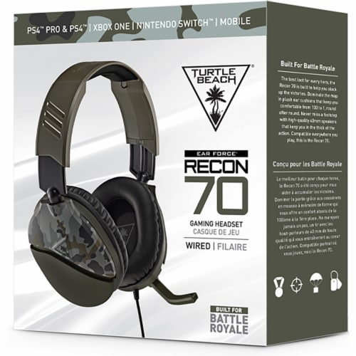 Turtle Beach® Recon 70 Green Camo Multiplatform Gaming Headset Perspective: front