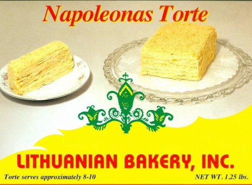 Lithuanian Bakery Napoleon's Torte Perspective: front