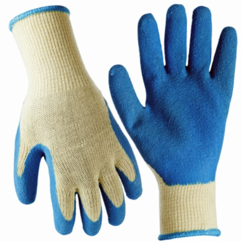 Big Time Products 243627 Mens True Grip Large Latex Rubber Coated Glove, Pack of 3 Perspective: front